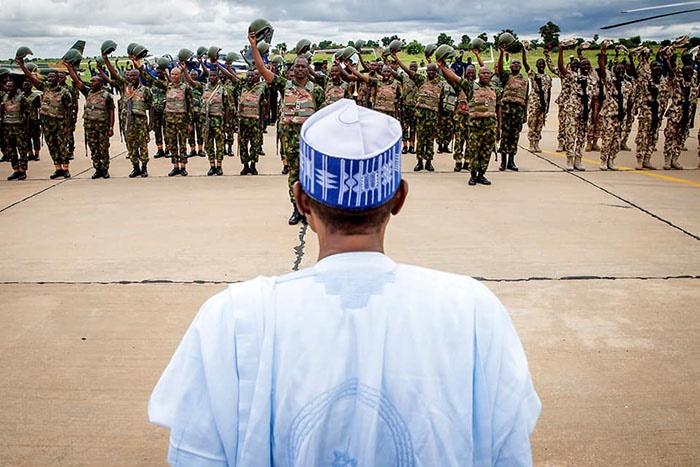 Buhari addresses troops deployed to Zamfara