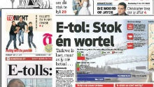 Newspapers focus on new e-toll tariffs and mechanisms
