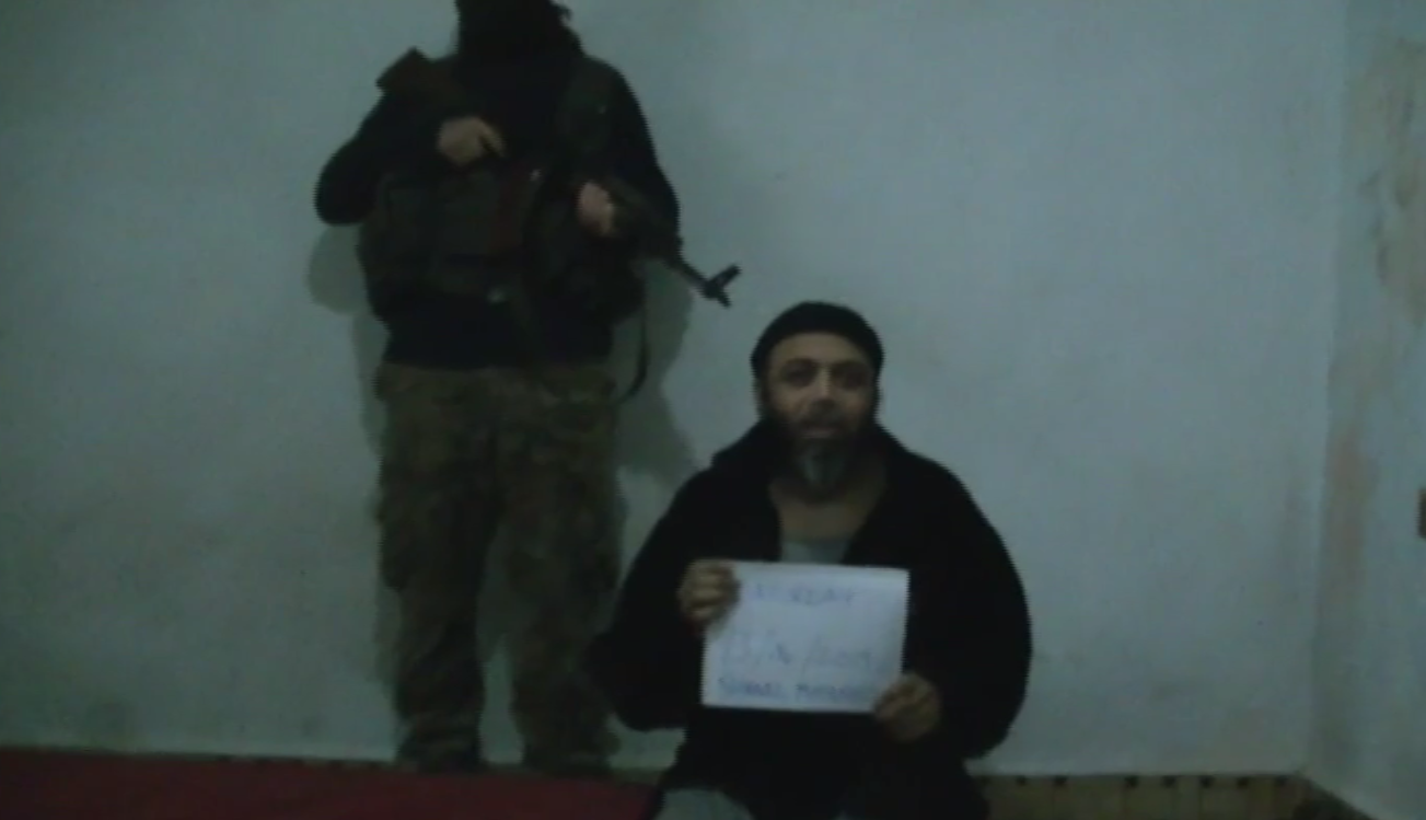 A screengrab of a recording made while Shiraaz Mohamed was in captivity in Syria. (File)