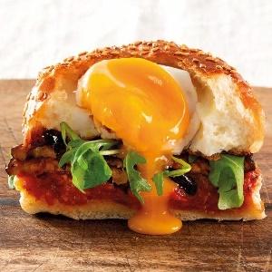 Photo: Veggie and egg bun