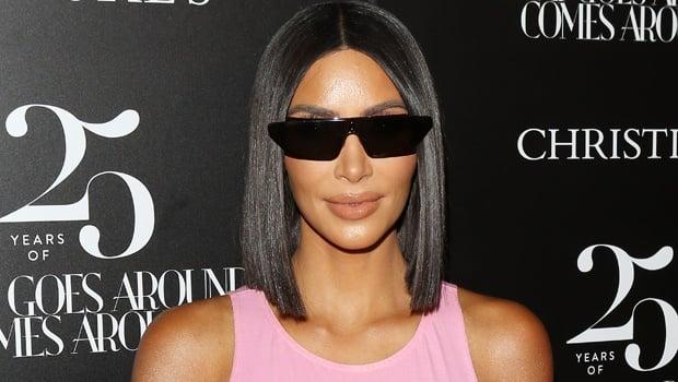 kim kardashian,pink,sunglasses,christies,tiny,hair