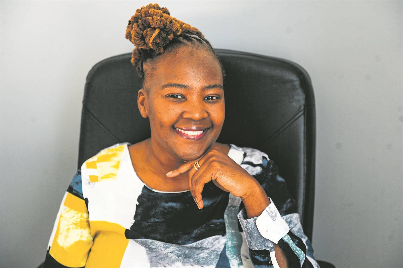 Sibongile Ndashe at Isla's offices in Johannesburg. Picture: ROSETTA MSIMANGO