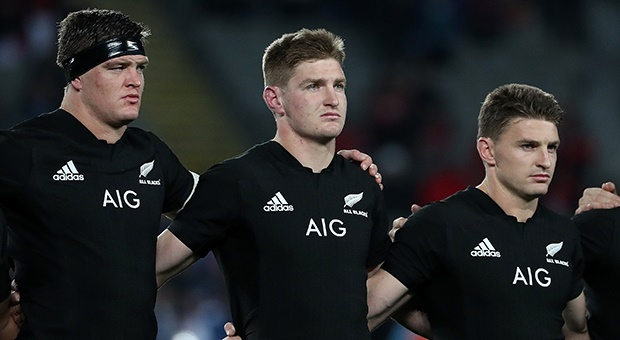 All Black brothers Scott, Jordie and Beauden Barrett (Getty Images)