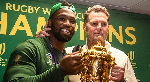 Siya Kolisi and Rassie Erasmus (Gallo)