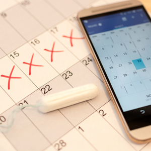Phone and calendar tracking period