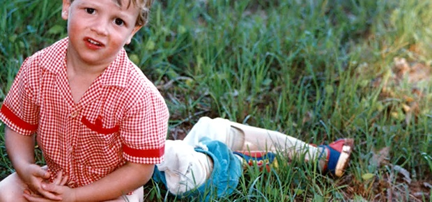 A childhood photo of Oscar Pistorius.