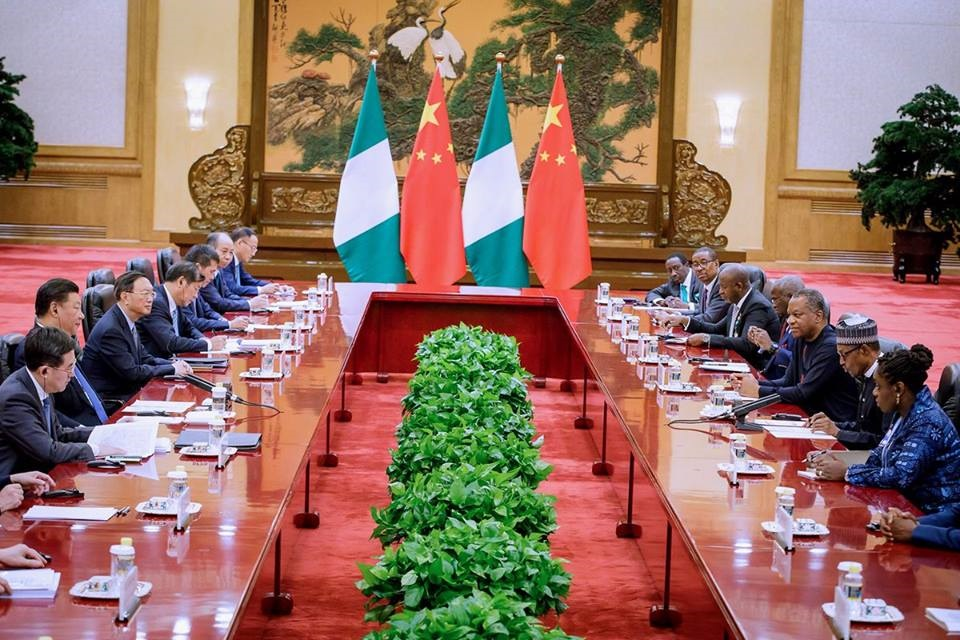 Buhari and chinese president attended a bilateral