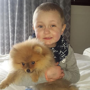 Robbie Curtis and his dog