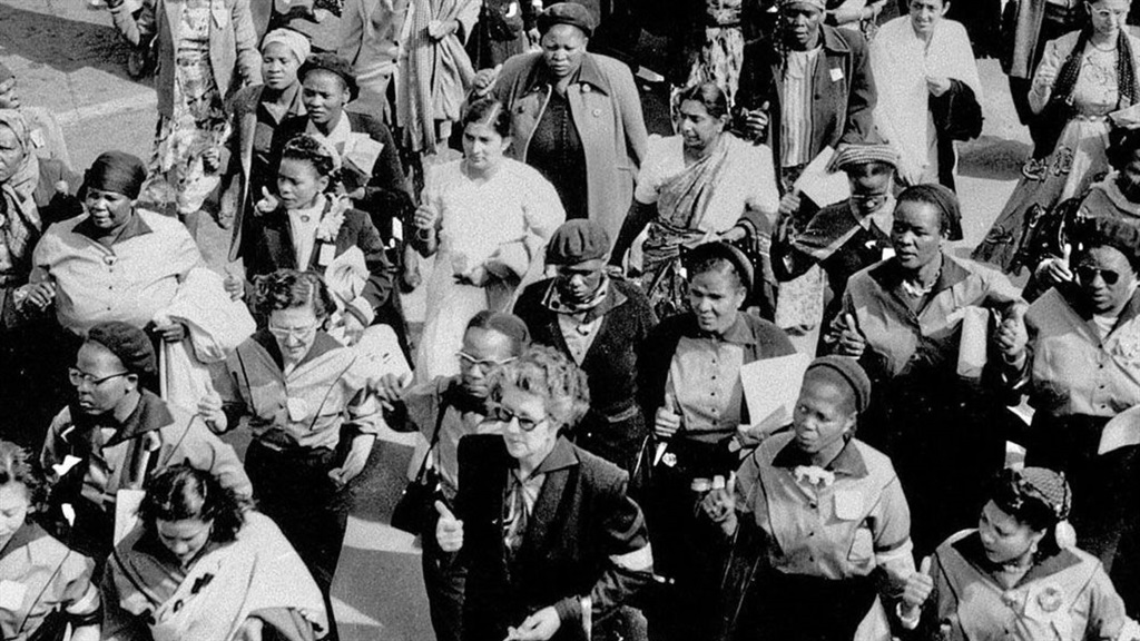 On August 9 1956, about 20 000 women marched to the Union Buildings in Pretoria to protest against legislation aimed at tightening the apartheid government's control over the movement of black women in urban areas.