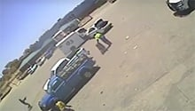 WATCH: CIT-vehicle rams robbers then drives circles around them