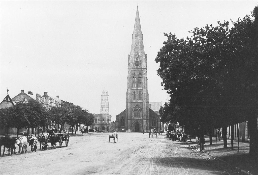 Die Grahamstad se katedraal in die ou dae.