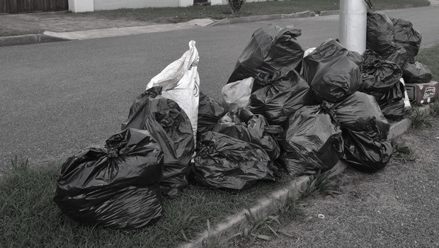 A file image of uncollected garbage.