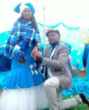 Thanda Ngcobo & Mduduzi Ndlovu at their Umembeso (engagement ceremony) in April this year (PHOTO: Supplied)