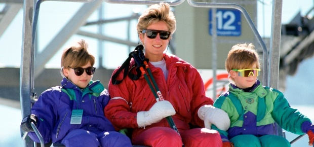 Prince Harry, Princess Diana and Prince William