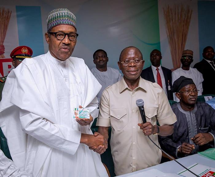President Muhammadu Buhari received his digitised