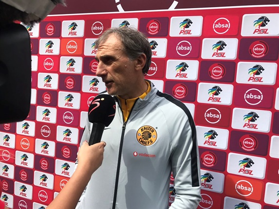 """<p><strong>Giovanni Solinas:</strong></p><p>""""I'm very happy my boys deserved to win the game. Everyone played very well today.  We created many chances and I am happy for the Amakhosi fans, the victory is for our fans.""""</p>"""