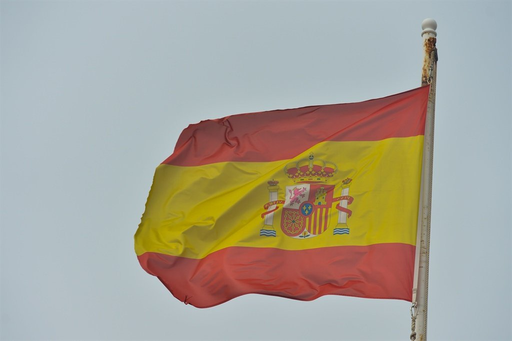 Spanish National Flag in Melillas Old Town.