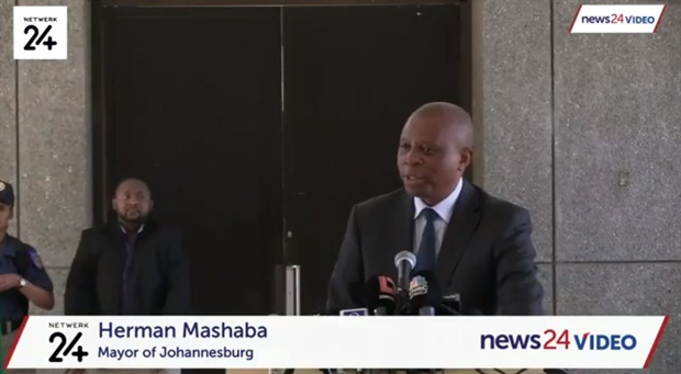 Mashaba begins his comments