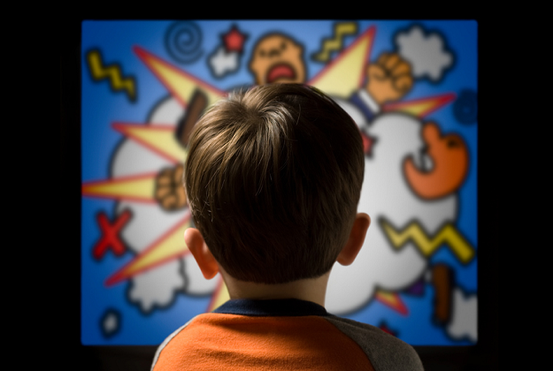 Studies show that 37% of media aimed at children have scenes of physical or verbal violence.