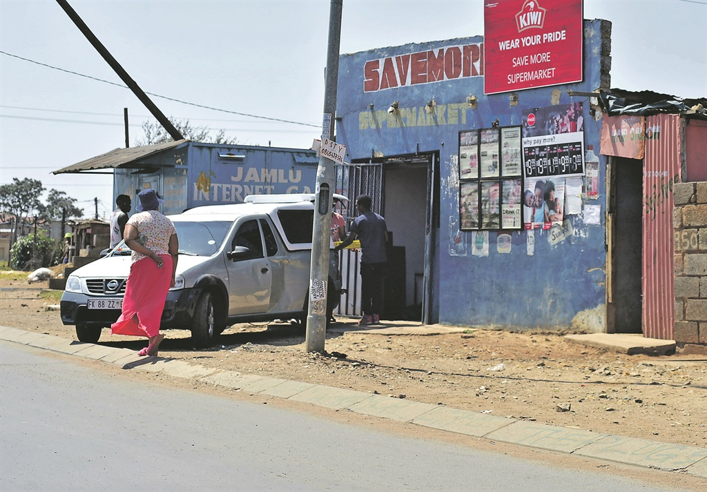 A spaza shop owned by a foreigner in Soweto. Photo by Lucky Morajane
