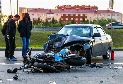 car and bike crash