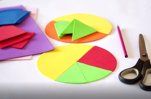 Watch this quick DIY for a simple way to teach your kids the basics of fractions.