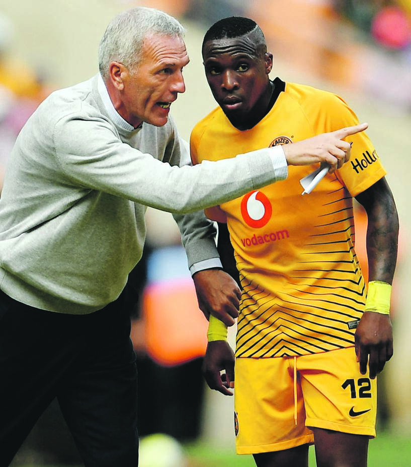 Kaizer Chiefs coach Ernst Middendorp says even seasoned players such as George Maluleka are not guaranteed places in the team Picture: Lefty Shivambu / Gallo Images