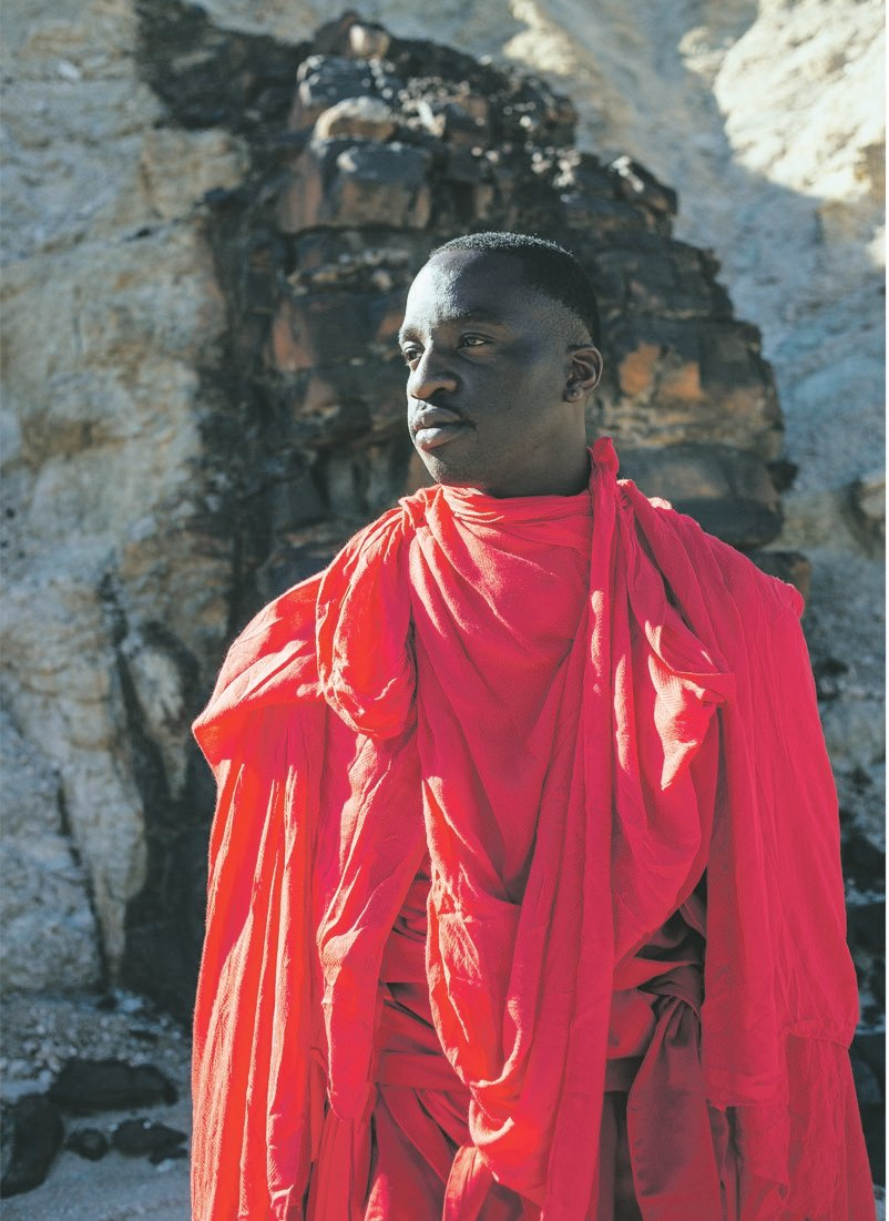 The grand master: Petite Noir and Rharha tell a tale of fire, rage and resilience that unfolds in the Namibian desert. Pictures: Red Bull Content Pool/Tyrone Bradley