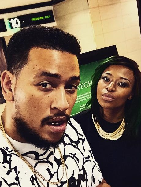 Rapper AKA and DJ Zinhle    Picture: Instagram