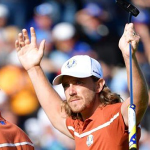 Tommy Fleetwood and Francesco Molinari (Getty Images)