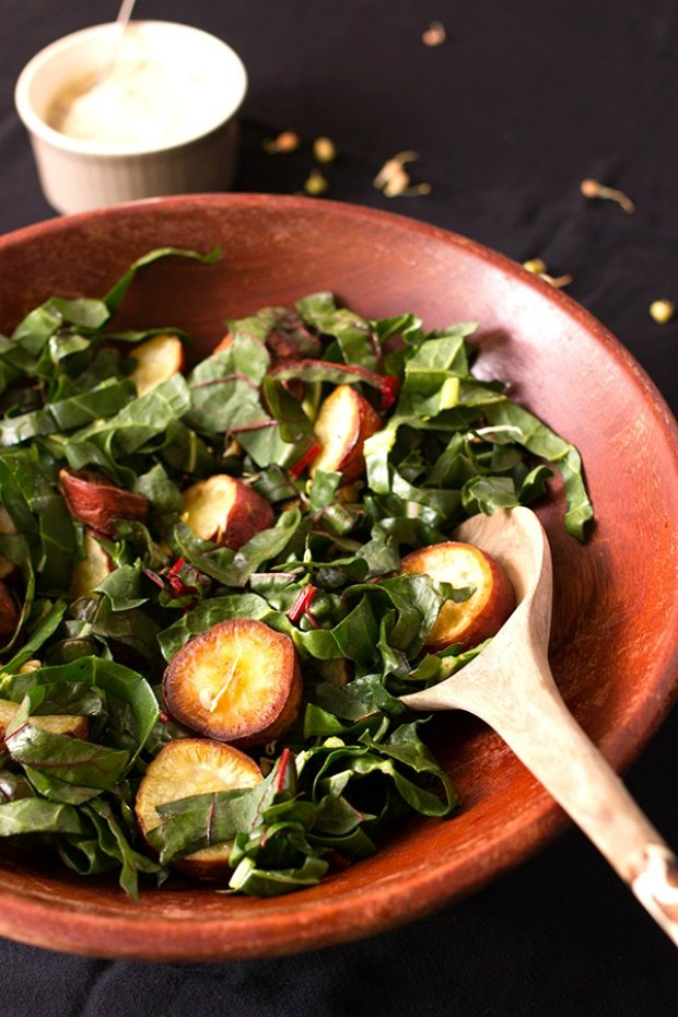 spinach and sweet potato salad recipe