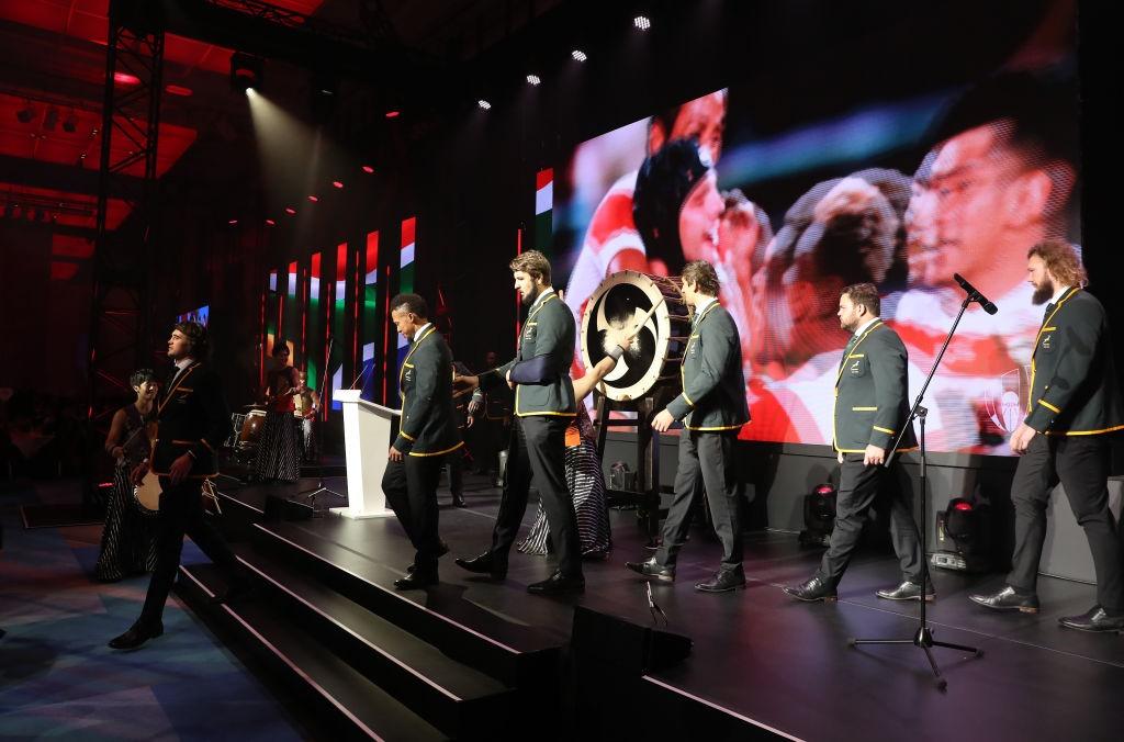 TOKYO, JAPAN - NOVEMBER 03: The new World Champion