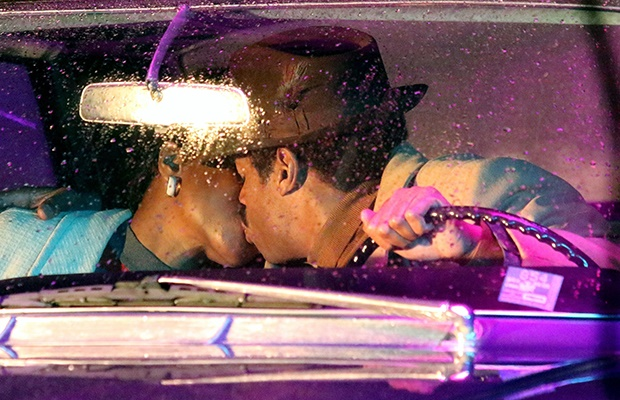Jennifer Hudson and Marlon Wayans filming scenes f