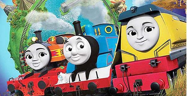 Kenyan tank engine Nia, Thomas and their friend. Picture: Supplied