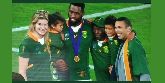 The only thing that set off our waterworks more than Captain Siya Kolisi's emotional post-match speech was the skipper's special family moments.