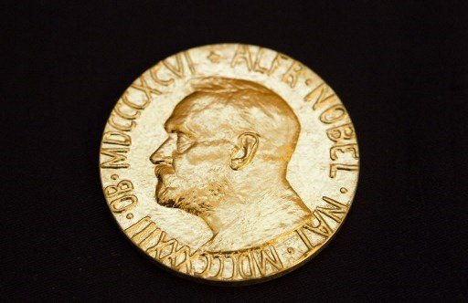 The front of the Nobel medal awarded to the Nobel