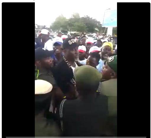 Police drag Dino Melaye