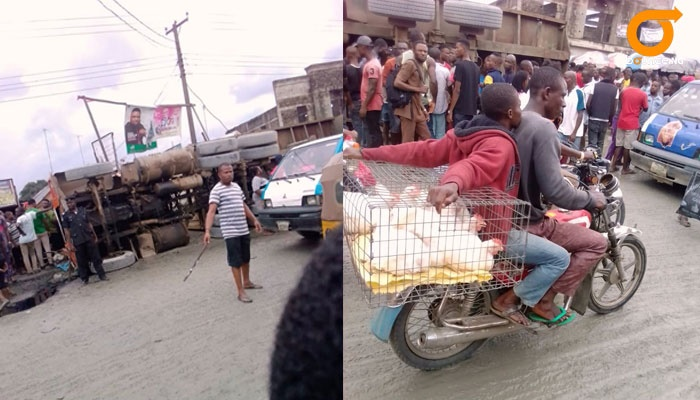 Truck falls on traders in Rivers market