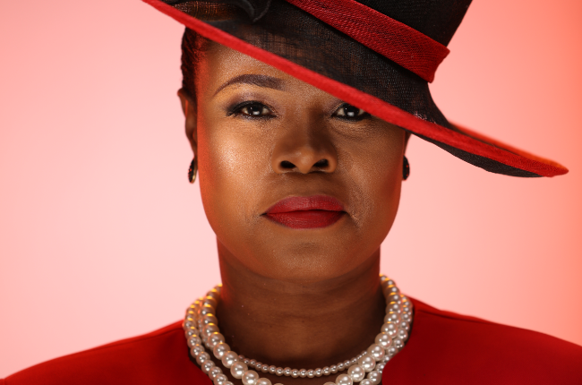 Nthati Moshesh plays Mother Mary on BET's new drama, Isono.