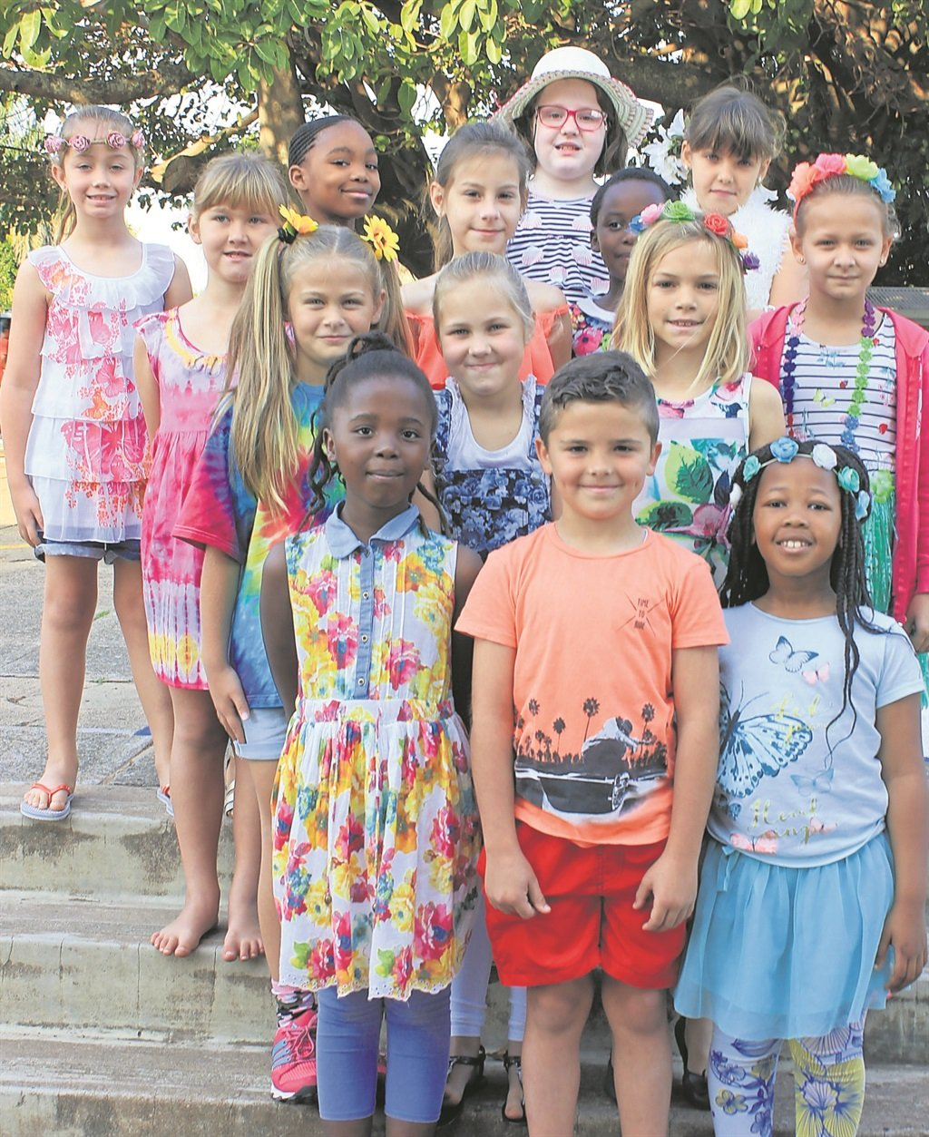 Grade two pupils all dressed up for Spring Day.PHOTOs: supplied