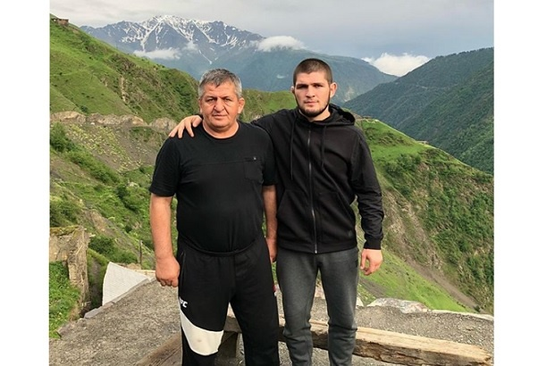 Khabib Nurmagomedov with father Abdulmanap Nurmagomedov.khabib_nurmagomedov