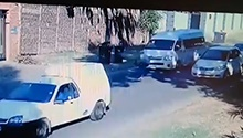 WATCH: Pedestrian mowed down by taxi driving in the wrong lane