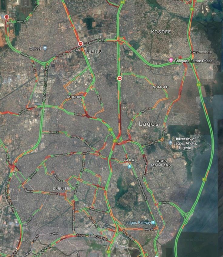 See Lagos Traffic Report 10.10.2018