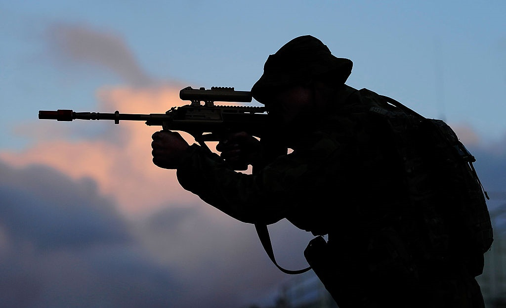 A military soldier.