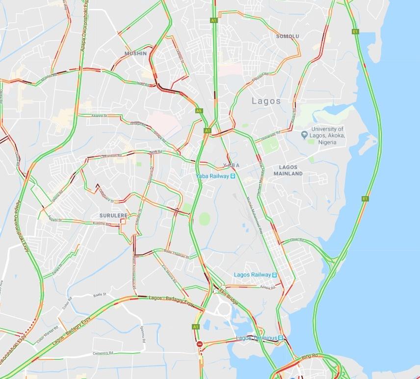 Lagos Traffic Report 16.10.18