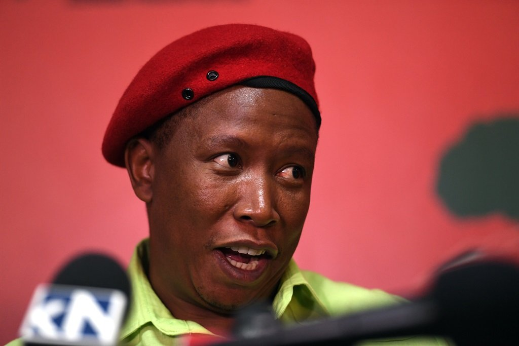 Julius Malema, leader of the EFF.