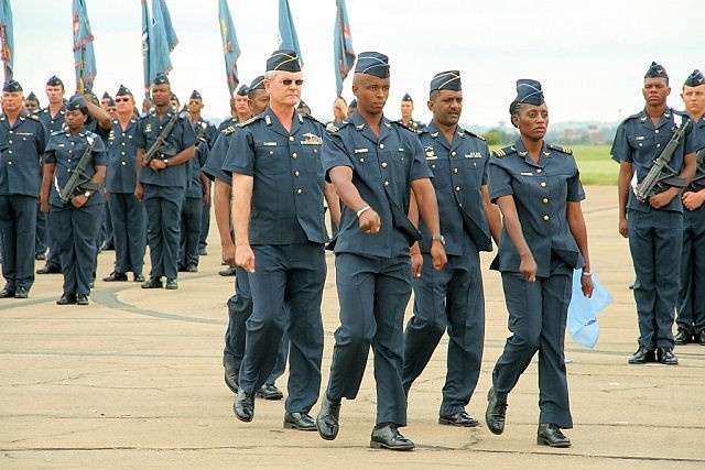 Members of the South African Air Force during a Parade in 2010. Picture: SA Air Force