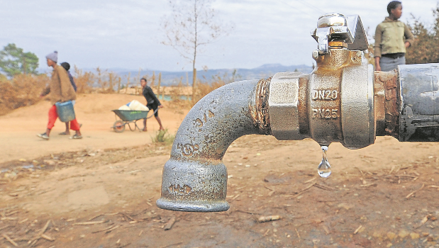 Tenants left without water as district cuts off in-debt municipality.