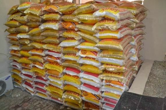 Bags of Rice yet to be distributed