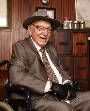 Hendrik Pistorius at 101. (PHOTO: Lubabalo Lesolle)